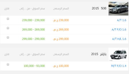 أسعار بيجو2015