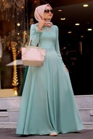 احدث الوان فساتين سهرة وفساتين سواريه محجبات (2)