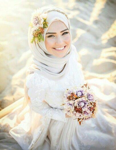 احدث فساتين زفاف محجبات 2018 (2)