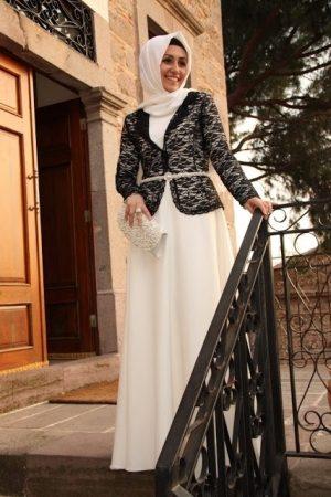 احدث فستان محجبات مودرن (1)