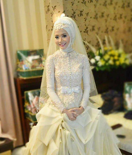 فساتين زفاف محجبات 2018 (2)
