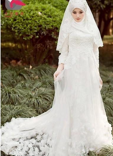 فساتين زفاف محجبات 2018 (3)