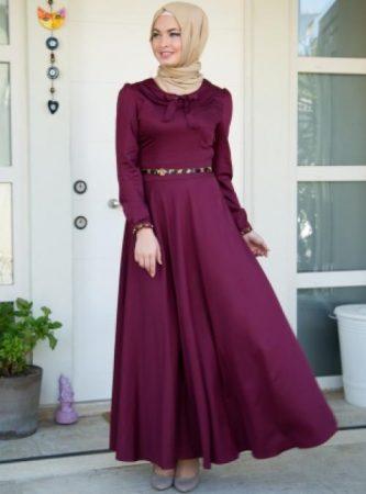 فستان سهرة محجبات طويل (1)