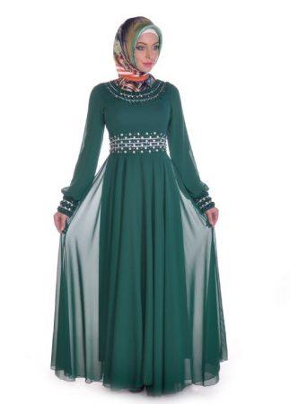 فستان سهرة محجبات طويل (2)