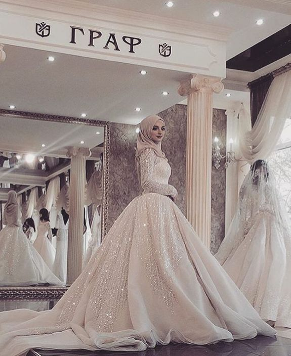 فستان فرح محجبات 2018 (1)
