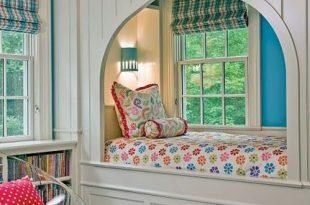 ورق حائط 2020 احدث اشكال ورق حائط جديد - A room filled with furniture and a large window - Bunk bed